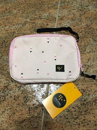 Pink Pouch / Case / Clutch / Bag with 2 zipped compartments (BNWT)