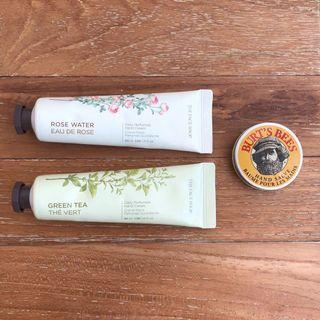 Burt's Bees Hand Salve, The Face Shop Hand Cream