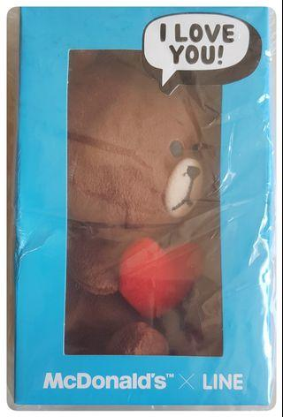 🚚 Exclusive McDonald's X LINE Plush Collectibles - Brown