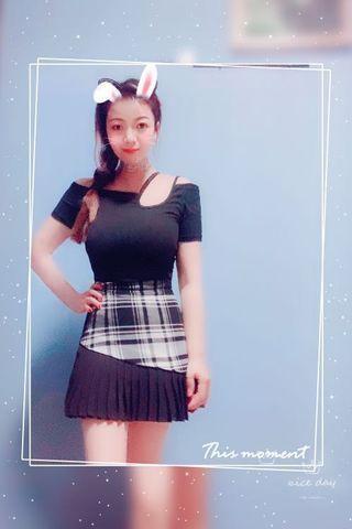 Black and white plain skirt
