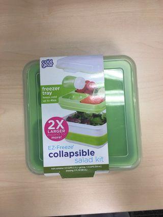 Collapsible salad kit