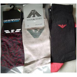 全新 HUGO BOSS, EMPORIO ARMANI socks 襪 #newbieApr19 #MTRtaiwai