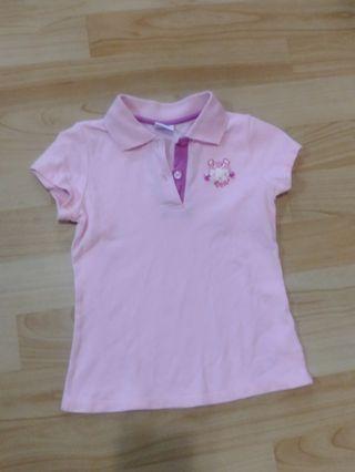 🚚 麗嬰房粉紅polo衫