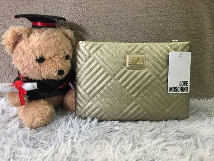 Love Moschino Gold Color Quilted Handbag
