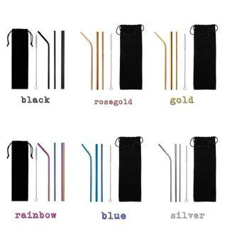 STAINLEES STRAW (READY STOCK)