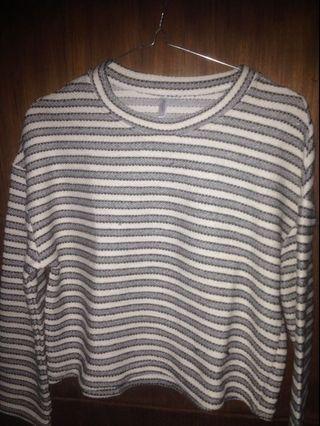 stripe top / long shirt / sweatshirt / sweater ✨