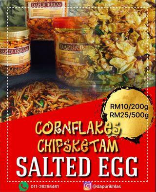 Salted egg cornflakes and crab
