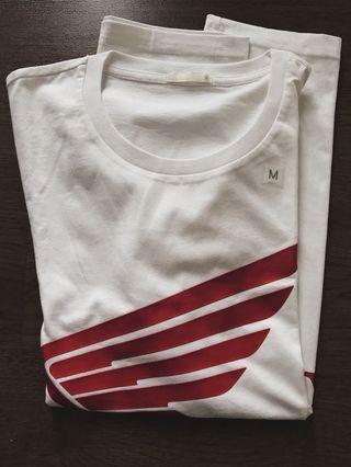 Kaos putih logo Honda