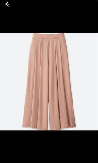 🚚 Uniqlo pink flare wide pants