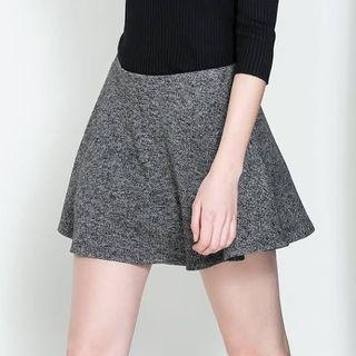 Basic Zara Trafaluc Knit Grey Mini Skirt