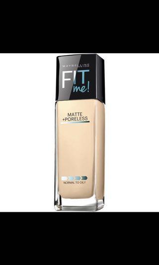 Maybelline Fit Me Matte + Poreless Foundation #128 $99 加眼影可 -10%