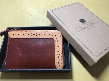 [全新] Made In Eden 英倫風真皮紳士散子包 Oxford Leather Coin Purse