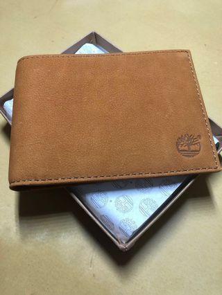 [全新] Timberland 燕麥皮男士銀包 Wheat Leather Wallet