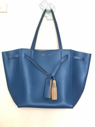 [95%] Celine Dual Tone Phantom Cabas Tassel Tote Bag 雙色流蘇手袋