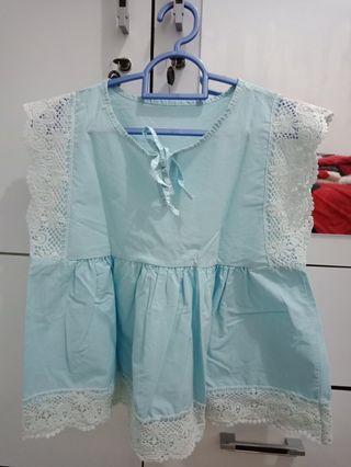 Baby blue top