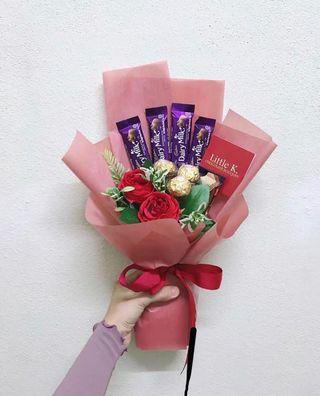 Simple Flower Chocolate Bouquet
