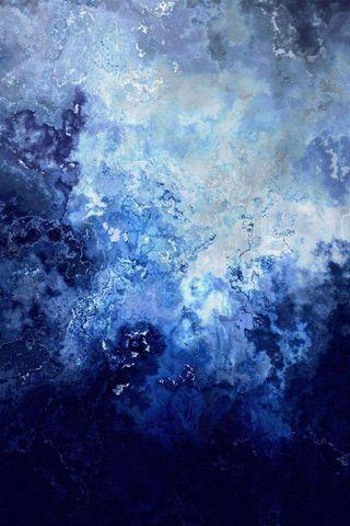 Abstract shade of blue paintings