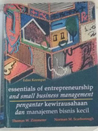 Pengantar Kewirausahaan Dan Manajemen Bisnis Kecil / UKM (Buku Bekas)