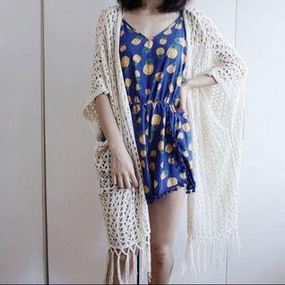 Boho style crochet Kimono with fringe