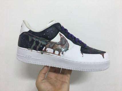 9246bf206c9b7 Nike Air Force 1 Iridescent Drip Customs
