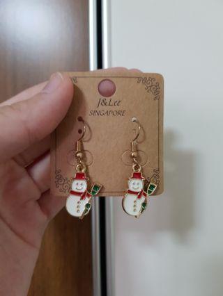 Xmas Snowman Earrings