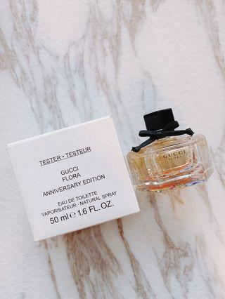 Hkd$290 Gucci Flora 50th Anniversary Edition 50ml 女士花香香水(50週年限量紀念版)🌷tester 盒