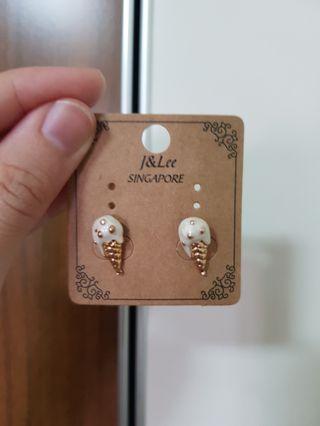 Melting ice cream earrings