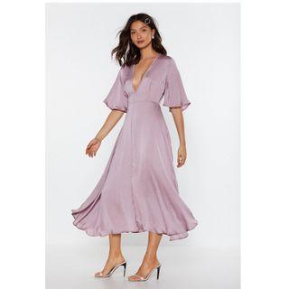 Nasty Gal lilac dress size 4