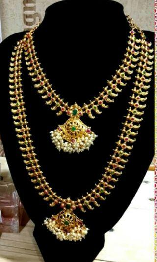 Indian Jewelleries( Long n short chain)