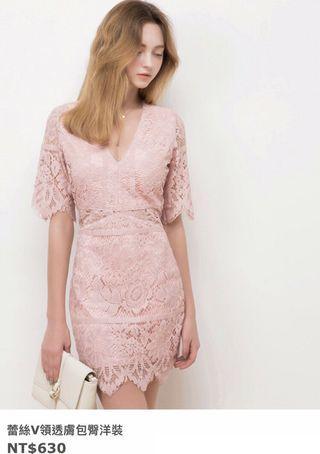 Air space粉色洋裝 小禮服