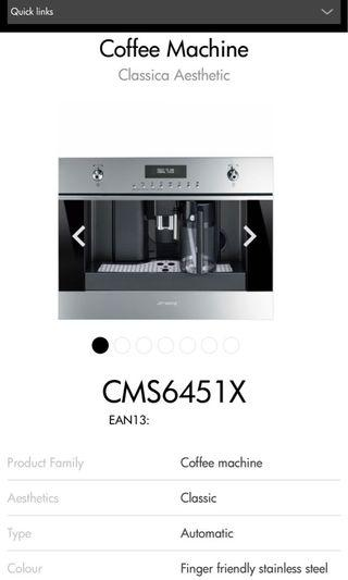 Smeg Coffee Machine 6451X
