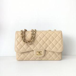 Authentic Chanel Classic Jumbo Single Flap Bag