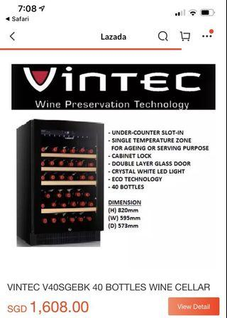 Vintec wine chiller