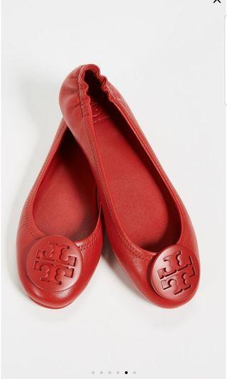 全新Tory Burch Minnie Travel 芭蕾平底鞋5.5