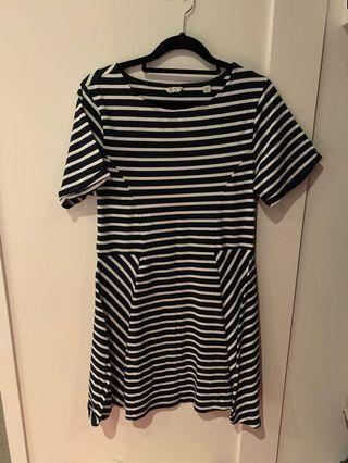 Jack wills striped skater dress