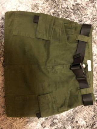 Topshop army green skirt