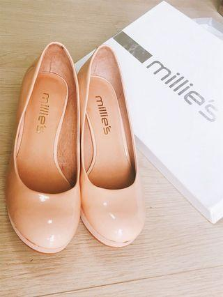 Millies high heel shoes(nude color)