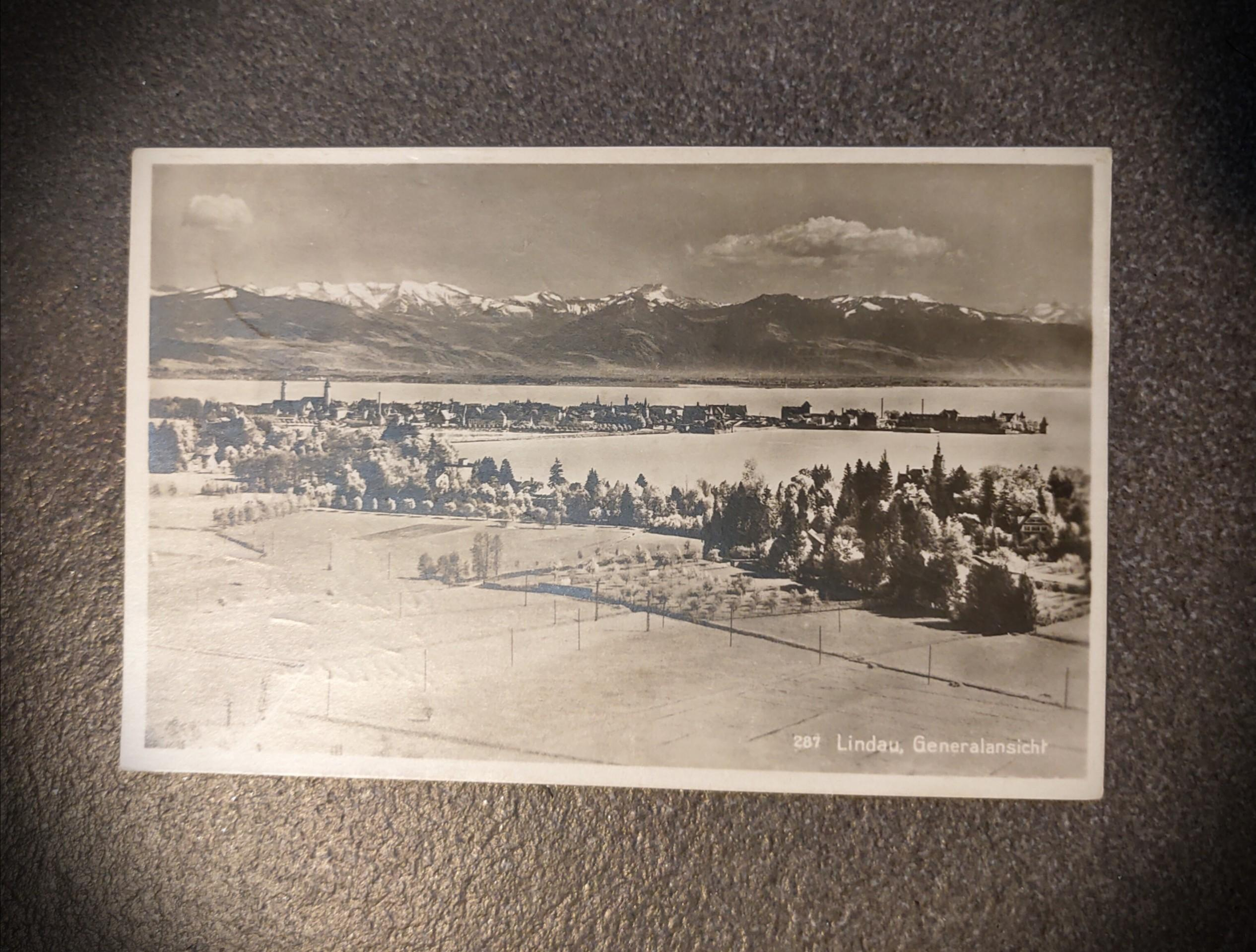 1930年 實寄.有郵戳.名信片 A historical postcard from 1930
