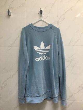 [ADIDAS] Sky Blue Trefoil Sweat