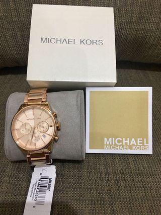 Original Michael Kors Bailey chronograph rose gold watch