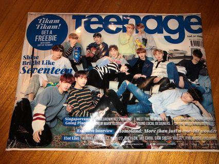 [WTS] SEVENTEEN TEENAGE MAGAZINE WITH SEVENTEEN POSTER