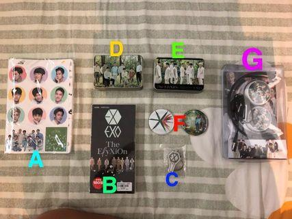 [WTS] EXO UNOFFICIAL GOODS