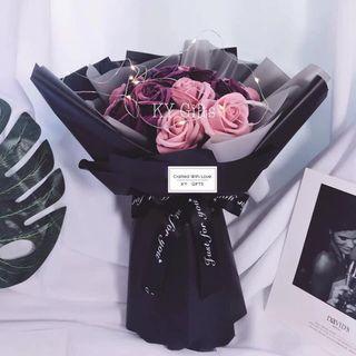 Purple Wine Roses Flower Bouquet 💐