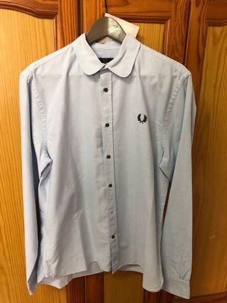 Fred perry 春夏 淡藍 襯衫