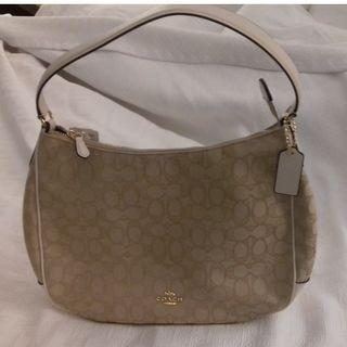 Coach shoulder bag Lady's COACH light khaki / chalk F29959 IMDQC