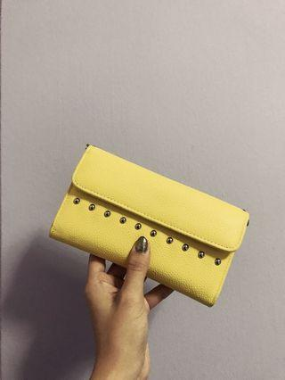 Pull & Bear Yellow Wallet Sling Bag