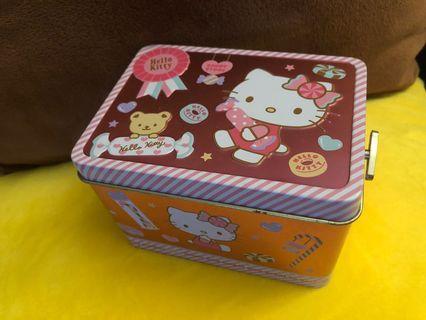 Hello kitty 金屬收納盒+音樂盒