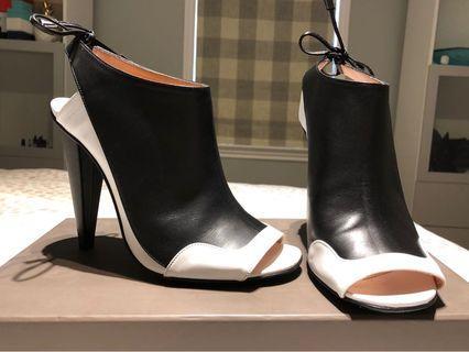 Designer Peep Toe Booties - Roland Mouret (worn once!)