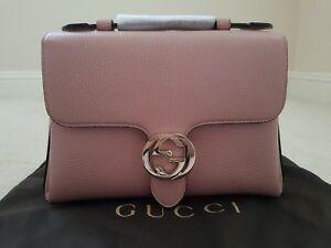 Gucci interlocking leather top handle bag