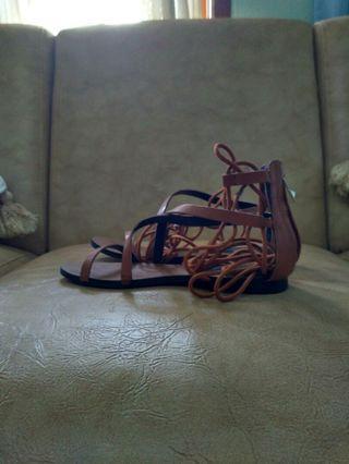 Strap cord sandals